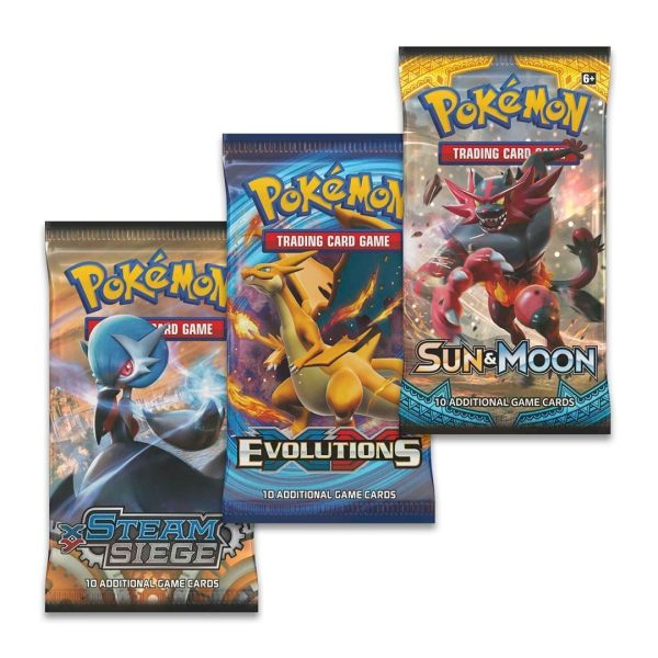 Pokemon 3 Boosters Pack Options