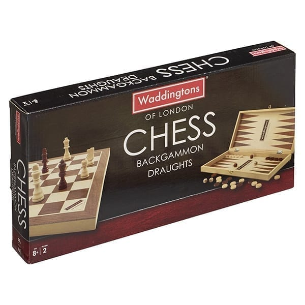 Waddingtons 3 in 1: Chess, Backgammon and Draughts