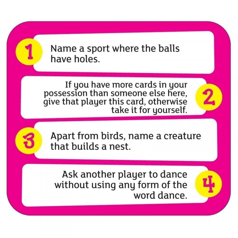 Quirky Quiz Card Example