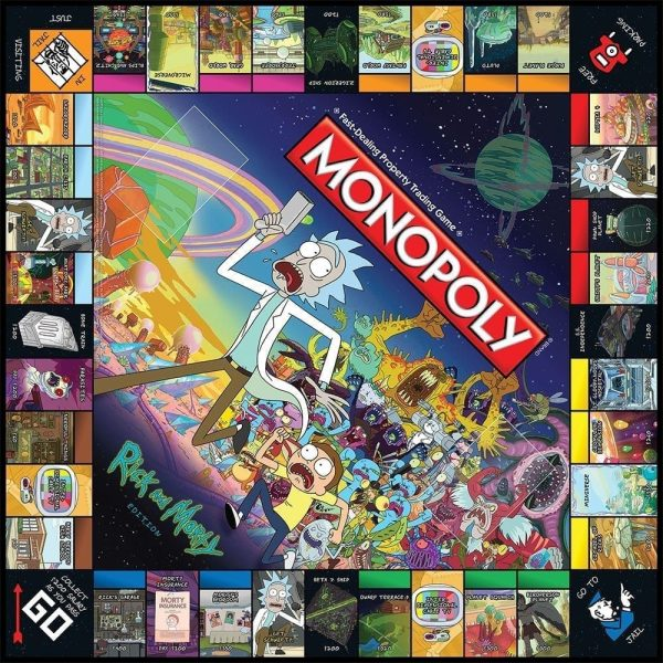 Monopoly Rick and Morty Board