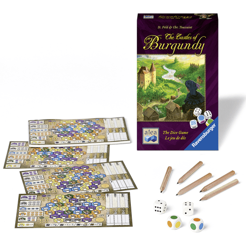 Castles of Burgundy Dice Components
